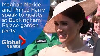 Prince Harry, Meghan Markle Attend Garden Party In Honour Of Prince Charles Ahead Of Honeymoon