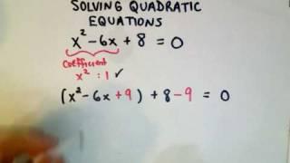 ❖ Completing the Square - Solving Quadratic Equations ❖