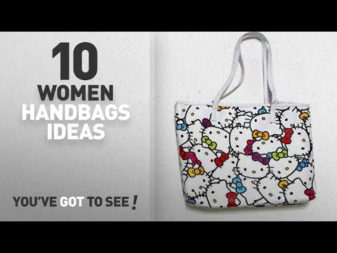 Top 10 Hello Kitty Handbag [ Winter 2018 ]: Hello Kitty Faux Leather Shoulder Tote Bag : Muti Color