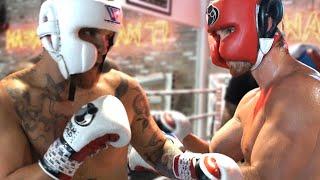Jake Paul vs Logan Paul Sparring