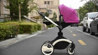Luxury baby stroller with carrycot,2 in 1,360 degree rotation pushchair/pram