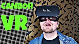 Günstiger Einstieg in die VIRTUAL REALITY | Canbor VR Brille & BT Controller | Deutsch (ausführlich)