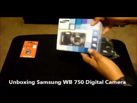 Unboxing Samsung WB 750 Digital Camera