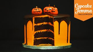 Halloween Special! Chocolate Orange Layer Cake | Cupcake Jemma