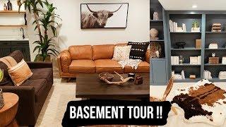 BASEMENT TOUR || Boho Masculine Design