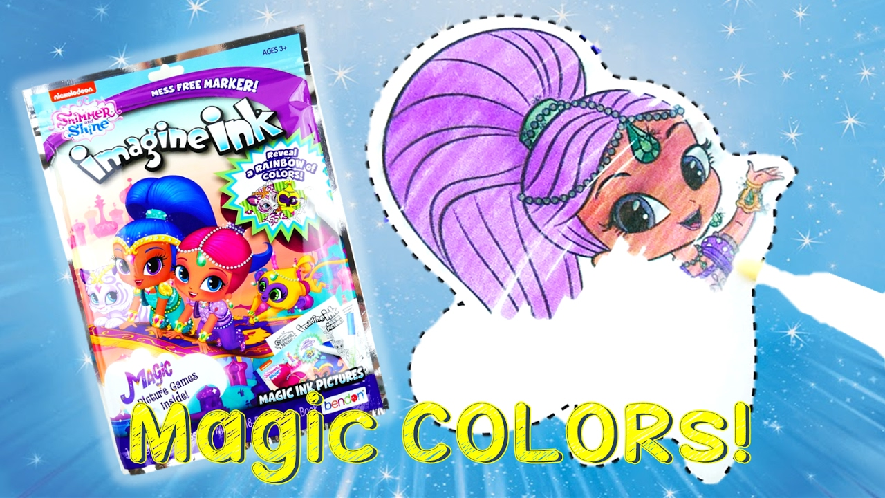 Shimmer and Shine Color Changing Imagine Ink Rainbow Marker Coloring Book | Evies Toy House
