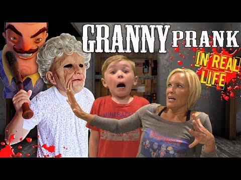 Granny In Real Life Prank Gone Wrong with Funhouse Family