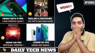 Redmi Note 9 Pro Live Photo,Realme 6 64MP Salman Khan,Honor 9X Pro Kirin 810 India,Redmi K30 Pro Pop