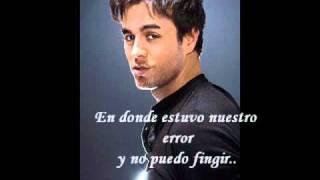Enrique Iglesias - Maybe (Letra En Español).wmv