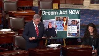 Menendez Floor Speech on Dream Act Fight