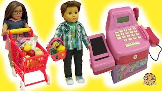 Trolls Poppy Works Cash Register Check Out - Shopping Carts Of Food + Surprise Blind Bags