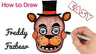 How to Draw Freddy Fazbear Easy from Five Nights at Freddy   Art Lesson
