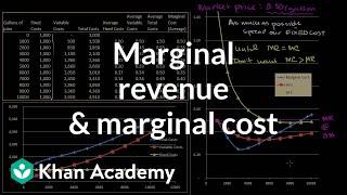 Marginal Revenue and Marginal Cost