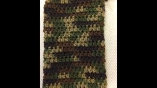 How to Crochet an easy Camo Phone Case for A Galaxy Note 3 | Video Tutorial