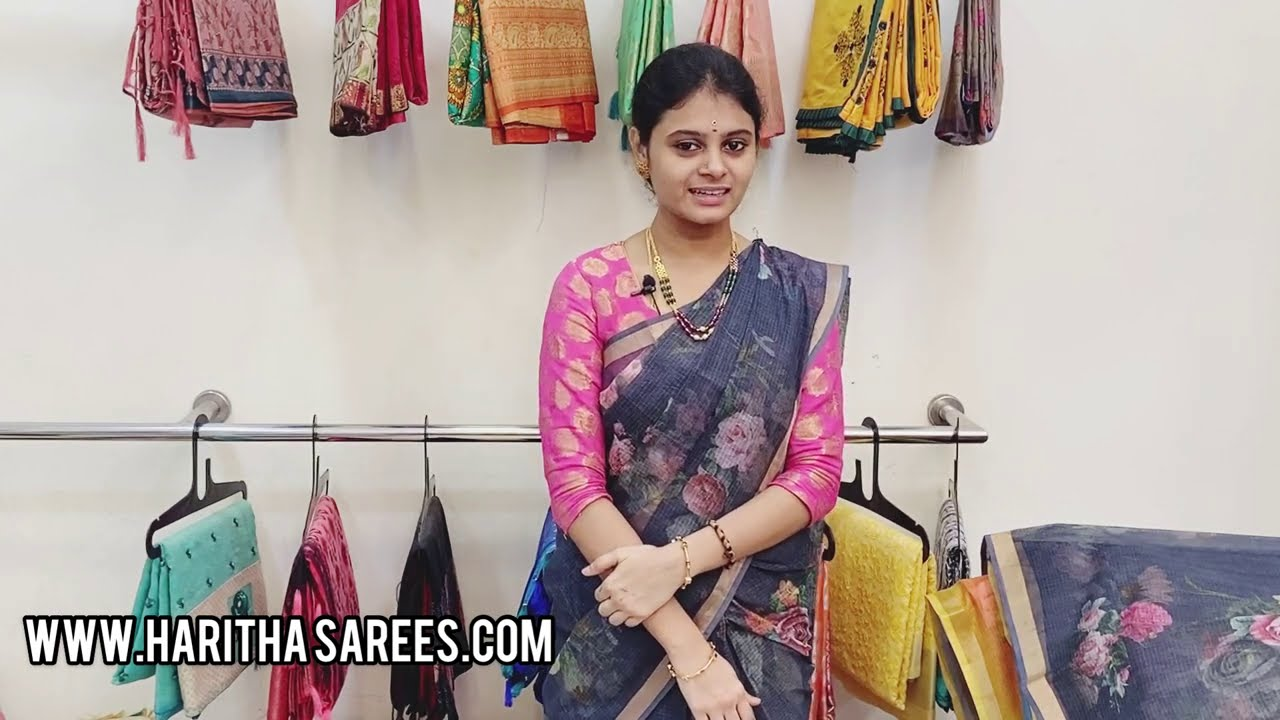 """<p style=""""color: red"""">Video : </p>Cotton Kota Digital Printed Sarees Available In Haritha SareesKota Doria or Kota Doriya is the name of a light weight fabric made of tiny woven squares which is still hand woven on traditional pit looms in Kaithoon near Kota ... 2021-01-09"""