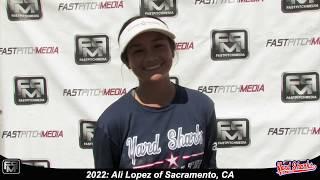 2022 Ali Lopez Athletic Middle Infielder Softball Skills Video - Yardsharks