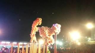 """สิงโตคู่ขึ้นโต๊ะดอกเหมย สิงโตกว๋องสิวนครสวรรค์ ที่นี่ทีเดียว""""งานสืบสานประเพณี100ปีตรุษจีนปากน้ำโพ"""""""