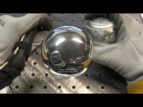 TIG Welding Aluminum Fabrication - Making a Ball out of 1/8