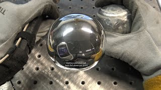 "TIG Welding Aluminum Fabrication - Making a Ball out of 1/8"" Thick Flat Aluminum Sheet - 6061.com"