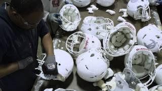 The Football Helmet Reconditioning Process At Riddell