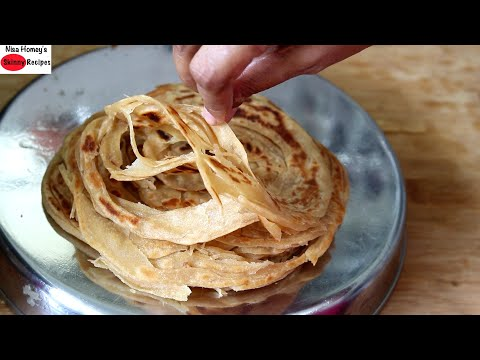 Wheat Parotta Recipe – How To Make Soft Kerala Wheat Porotta – Malabar Wheat Parotta – Iftar Recipes