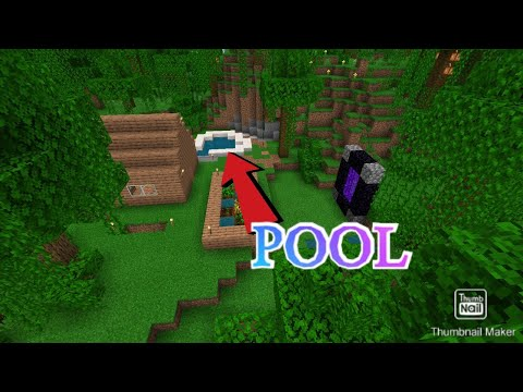 i build a pool, and found nether fortress S1 E5: Minecraft