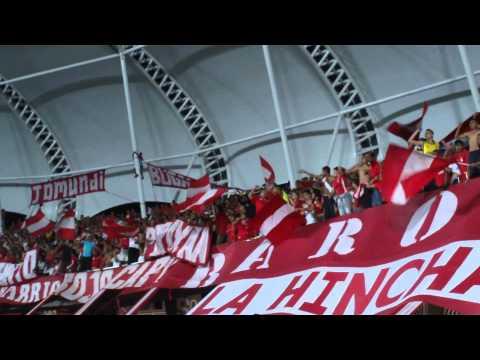 """""""YO SOY DEL ROJO HASTA LOS HUESOS CANTO EN VIVO / AMERICA 4 V S RIONEGRO"""" Barra: Baron Rojo Sur • Club: América de Cáli"""
