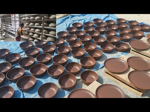 Pottery Factory | Modern Pottery Clay Work By Women | Fast & Perfect Cookware Making