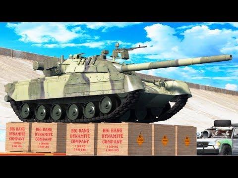 BIG BANG!  Dynamite VS every CAR! - Beamng Drive   CrashTherapy