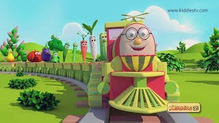Humpty the Train Vegetables song | nursery rhyme |  kids | kindergarten | preschool | kiddiestv