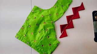 Designer Model Blouse Gala Design|silksaree Model Blouse Gala Design Cutting&stitching#Blousedesigns