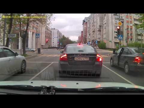 Конфликт на дороге в Перми