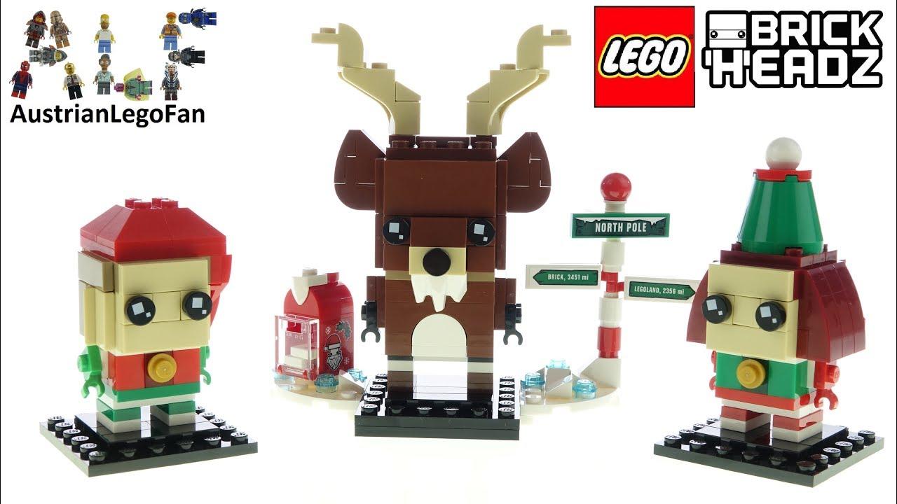 LEGO Brickheadz 40353 Reindeer, Elf and Elfie - Lego Speed Build Review