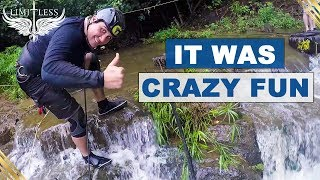 Rappelling Down A Waterfall in Hawaii
