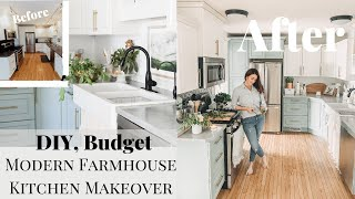 DIY Small Kitchen Makeover On A Budget | Modern Farmhouse Kitchen Makeover