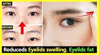 How to Reduce Eyelids swelling & Eyelids fat make Eyes bigger naturally (Japan Eyes Massage)