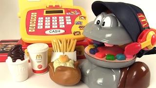 Pâte à Modeler Play Doh Shrek et Le Singe au McDonald's Caisse Enregistreuse