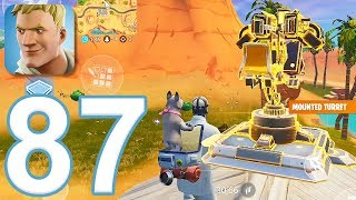 Fortnite - Gameplay Walkthrough Part 87 - Solo Win and Mounted Turret (iOS)