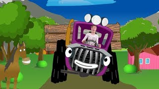 Веселая детская песенка. Трактор едет к нам. Учим названия животных с Вероникой!