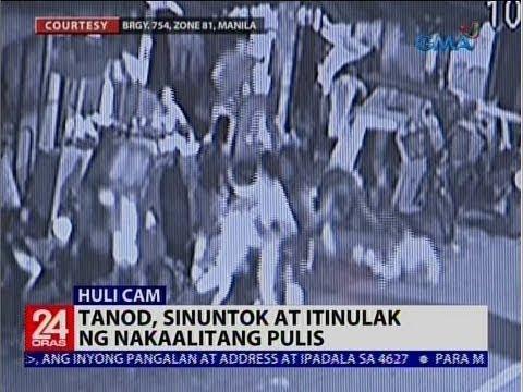 [GMA]  24 Oras: Tanod, sinuntok at itinulak ng nakaalitang pulis