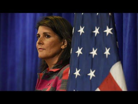 العرب اليوم - شاهد:سفيرة واشنطن لدى الأمم المتحدة نيكي هايلي تُعلن استقالتها