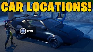 *NEW* ALL Car Locations In Fortnite! (How To Drive Cars In Fortnite!)