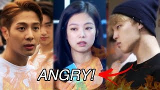 KPOP IDOLS GETTING ANGRY (BTS, BLACKPINK, TWICE AND MORE...)