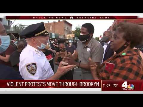 Fireworks, Trash Fires Erupt When Brooklyn Protests Turn Violent   NBC New York