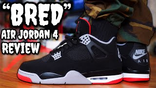 "WORTH THE HYPE? 2019 ""BRED"" AIR JORDAN 4 REVIEW & ON FEET! DON"