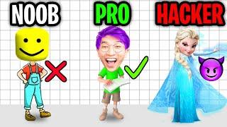 ¡NOOB vs PRO vs HACKER en el JUEGO DE APLICACIÓN BRAIN OUT! (¡CRISTIANOS Y ROMPECABEZAS DE LANKYBOX!)