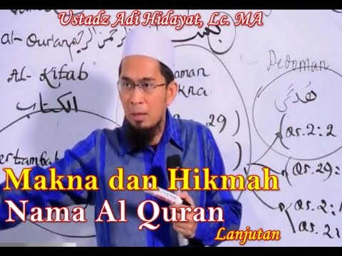 Makna dan Hikmah Nama-nama Al Quran, Ustadz Adi Hidayat, Lc. MA