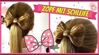 Zopf/Pferdeschwanz mit Schleife♥soo süss♥Haarschleife♥ Frisur für Mädchen♥