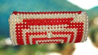 How to make beaded new design bag/পুতির নতুন ডিজাইনের ব্যাগ/Craft creations by lima