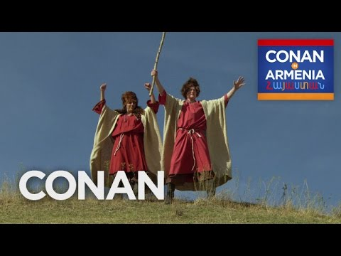 Conan and Sona Become Armenian Sheepherders  - CONAN on TBS (видео)